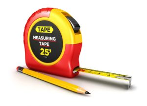 measuring tape and pencil