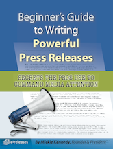 Beginner's Guide to Writing Powerful Press Releases - book cover