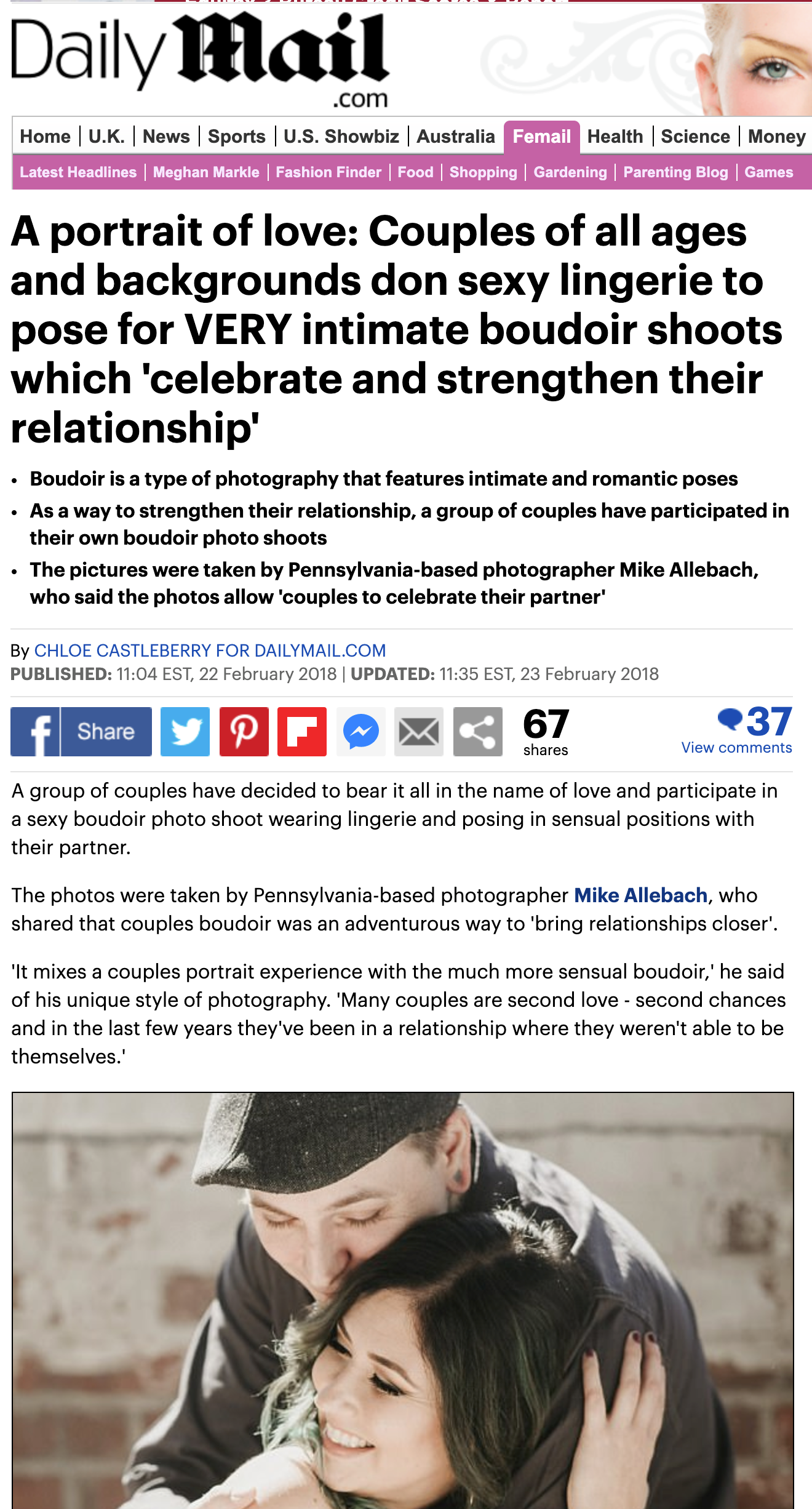 Daily Mail article - eReleases press release service Allebach Photography Case Study